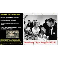 Broadway Thru a Keyhole (1933) Lowell Sherman Constance Cummings, Russ Columbo  w