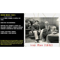 Iron Man 1931 Jean Harlow, Lew Ayres Director: Tod Browning  w