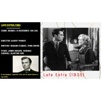 Late Extra 1935 James Mason Virginia Cherrill Albert Parker    w