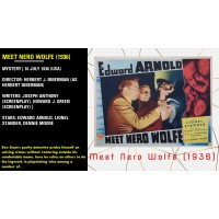 Meet Nero Wolfe (1936) Herbert Biberman Edward Arnold, Lionel Stander