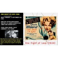 One Night of Love (1934) Victor Schertzinger Grace Moore, Tullio Carminati  w