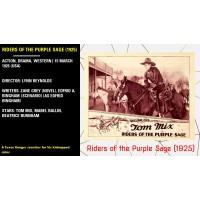 Riders of the Purple Sage 1925 Tom Mix Beatrice Burnham ////// Lynn Reynolds w