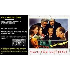 You'll Find Out (1940) David Butler Kay Kyser, Peter Lorre, Boris Karloff  w