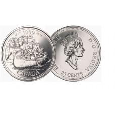 Canada 1999  25 cents  Millenium Series Canadian Quarter circulated