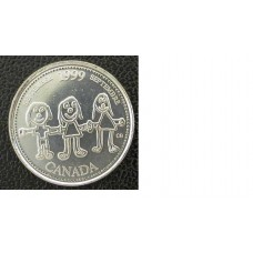 Canada 1999  25 cents  Millenium Series Canadian Quarter circulated