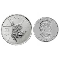 1 oz  2008 1 oz Silver Maple Leaf Olympic Edition Coin