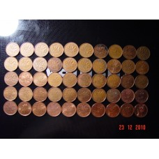 50x  1 cent coins Canadian 1 cent (penny) coins - from 1960 to 2010 instant collection of circulated  Royal Canadian Mint