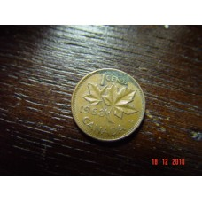 Canada 1 cent -penny- coin  1963   Circulated 3.24 g 19.05 mm (3⁄4 inch), round 98% copper