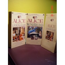 Alice in Wonderland and Alice Through The Looking Glass (VHS, 1993) 2 vhs box set tapes